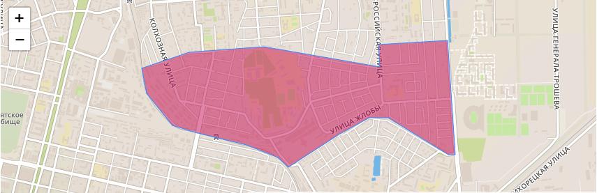 Область района Краснодара «Табачная фабрика»